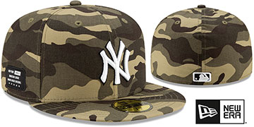 Yankees 2021 ARMED FORCES STARS N STRIPES Hat by New Era