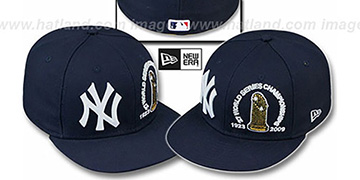 Yankees 27 CHAMPIONSHIPS TROPHY Navy Fitted Hat by New Era