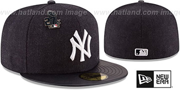 Yankees 27X 'HEATHER-PIN' Navy Fitted Hat by New Era