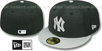 Yankees 2T-HEATHER ACTION Charcoal-Grey Fitted Hat by New Era