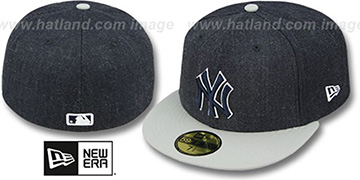 Yankees '2T-HEATHER' Navy-Grey Fitted Hat by New Era