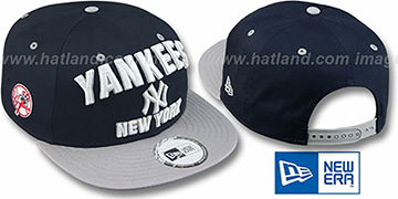 Yankees 2T PAYDIRT SNAPBACK Navy-Grey Adjustable Hat by New Era