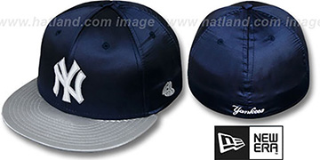 Yankees '2T SATIN CLASSIC' Navy-Grey Fitted Hat by New Era