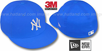 Yankees '3M REFLECTIVE' Blue Fitted Hat by New Era