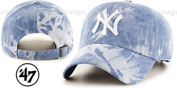 Yankees 'ACID WASH STRAPBACK' Hat by Twins 47 Brand