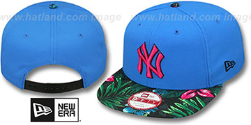 Yankees AMAZON BLOOM SNAPBACK Blue-Multi Hat by New Era