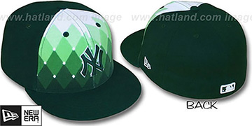 Yankees 'ARGYLE FADE' Green Fitted Hat by New Era