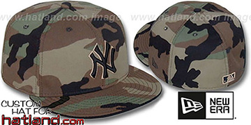Yankees 'ARMY CAMO' BNY Fitted Hat by New Era