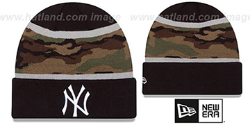 Yankees ARMY CAMO FILLZ Knit Beanie Hat by New Era