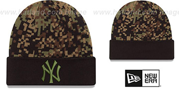 Yankees ARMY CAMO PRINT-PLAY Knit Beanie Hat by New Era