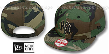 Yankees 'ARMY CAMO SNAPBACK' - 2 Adjustable Hat by New Era