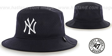 Yankees 'BACKBOARD JERSEY BUCKET' Navy Hat by Twins 47 Brand