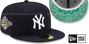 Yankees 'BANDANA KELLY BOTTOM' Navy Fitted Hat by New Era