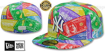 Yankees BENJAMINS Multi Fitted Hat by New Era