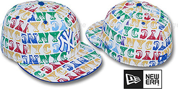 Yankees 'BIG-TOP' White-Multi Fitted Hat by New Era