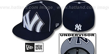 Yankees BIG-UNDER Navy Fitted Hat by New Era