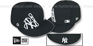 Yankees BIGGY FLAW MLB INSIDER Black Fitted Hat by New Era