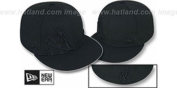 Yankees BIGGY FLAW MLB INSIDER BLACKOUT Fitted Hat by New Era