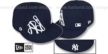 Yankees BIGGY FLAW MLB INSIDER Navy Fitted Hat by New Era