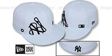 Yankees BIGGY FLAW MLB INSIDER White Fitted Hat by New Era