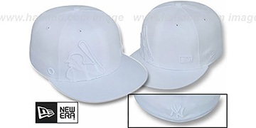 Yankees 'BIGGY FLAW MLB INSIDER WHITEOUT' Fitted Hat by New Era