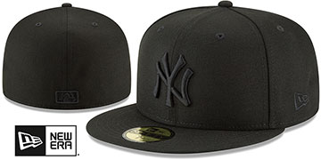 Yankees BLACKOUT Fitted Hat by New Era
