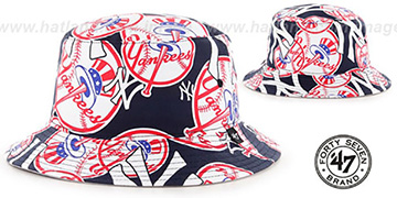 Yankees BRAVADO BUCKET Hat by Twins 47 Brand