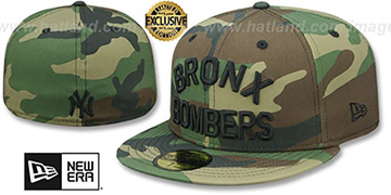 Yankees BRONX BOMBERS Army Camo Fitted Hat by New Era
