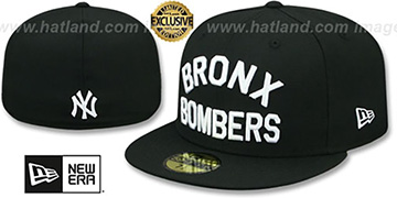 Yankees BRONX BOMBERS Black Fitted Hat by New Era