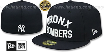 Yankees BRONX BOMBERS Navy Fitted Hat by New Era