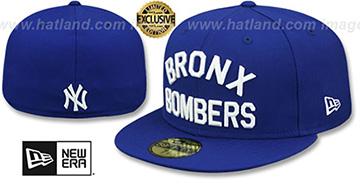 Yankees BRONX BOMBERS Royal Fitted Hat by New Era