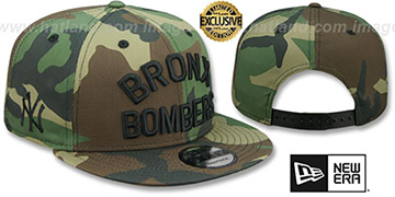 Yankees BRONX BOMBERS SNAPBACK Army Camo Hat by New Era