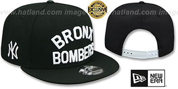 Yankees BRONX BOMBERS SNAPBACK Black Hat by New Era