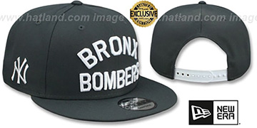 Yankees BRONX BOMBERS SNAPBACK Charcoal Grey Hat by New Era