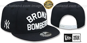 Yankees BRONX BOMBERS SNAPBACK Navy Hat by New Era