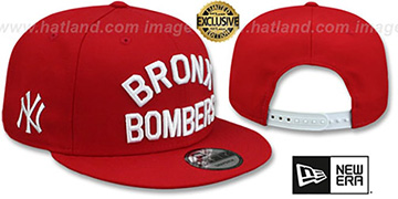 Yankees BRONX BOMBERS SNAPBACK Red Hat by New Era
