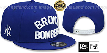 Yankees BRONX BOMBERS SNAPBACK Royal Hat by New Era