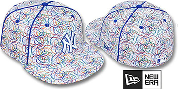 Yankees BRUSHED-ART White-Multi Fitted Hat by New Era