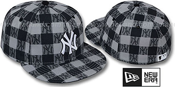 Yankees 'BUFFALO PLAID' Grey-Navy Fitted Hat by New Era