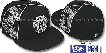 Yankees 'C-NOTE' Black-Silver Fitted Hat by New Era