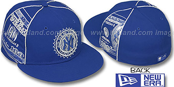 Yankees C-NOTE Royal-Silver Fitted Hat by New Era