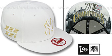 Yankees 'CHAMPS-HASH SNAPBACK' White Hat by New Era
