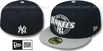 Yankees CIRCLE-CLOSER Navy-Grey Fitted Hat by New Era