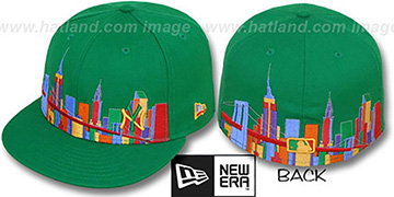 Yankees CITY DEEP-SKYLINE Green-Multi Fitted Hat by New Era