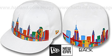 Yankees CITY DEEP-SKYLINE White-Multi Fitted Hat by New Era