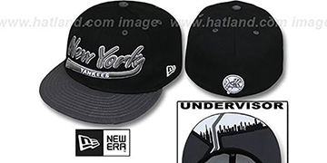 Yankees CITY-SCRIPT Black-Grey Fitted Hat by New Era