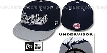 Yankees CITY-SCRIPT Navy-Grey Fitted Hat by New Era