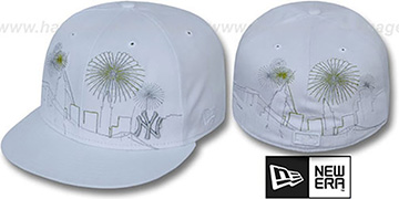 Yankees 'CITY-SKYLINE FIREWORKS' White Fitted Hat by New Era