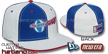 LA Stars 'Double Whammy' Royal-White Fitted Hat by New Era