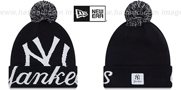 Yankees 'COLOSSAL-TEAM' Navy Knit Beanie Hat by New Era